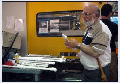 Bob Parow inspecting My 3rd Leg Canes