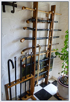 A customer's cane collection in Belgium.