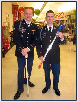 Soliders with their My Third Leg canes!